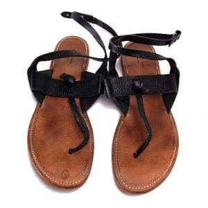 rag and bone claire sandals leather black 40